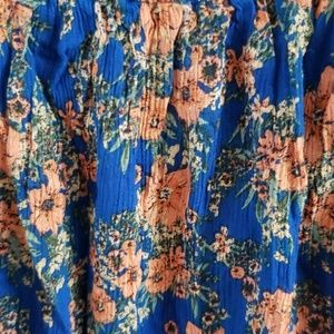 O'Neill Dresses - O'Neill XL Dara Blue floral dress